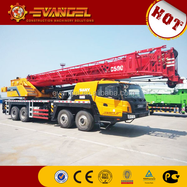 hiab crane for truck Hot sale Sany truck crane STC500 for sale in China