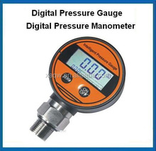Digital fuel gauge pressure with lcd display and battery supply