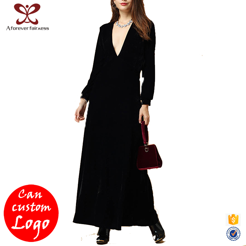 A Forever Fairness Cheap Indian Dresses Black Muselim Long Maxi Dress 95% Polyester <strong>5</strong>% Spandex Party Dresses