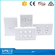 2016 New 1 Gang Australian Standard Power Point Electrical Wall Switch And Socket With Saa Certification