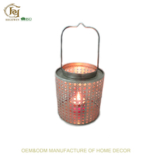 Metal Galvanized Islamic Lanterns Candle Holders