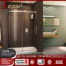 Tempered glass sliding shower screen system