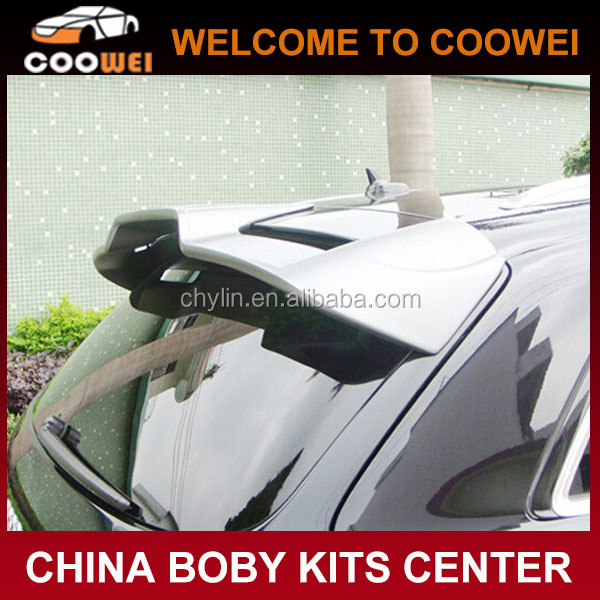 Top Quality Fiberglass Material Q7 ABT Roof Wing Spoilers For Audi Q7 2008-2009
