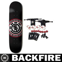 Backfire SKATEBOARDS Complete Skateboard TEAM SEAL BLACK 8.5