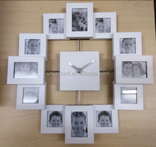 Plastic Wall Clock With Photo Picture Frame Hanging Album New Clocks