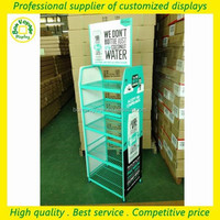 custom hot sale floor metal wire drinking glass display rack for promotion