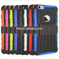Factory Wholesale Silicone PC Combo Spider Hybrid Kickstand Back Case Cover for iphone 6 plus 5.5inch ,50pcs/lot Free shipping