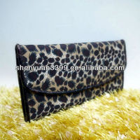 New fashion leopard clutch woman hand bag