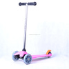 3+ years old kids toy PVC flahsing three wheel child kick trike scooter
