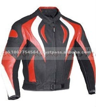 Fire Style Motorcycle Black Biker Leather Jacket / motorbike jacket / Motorcycle & Auto Racing Wear