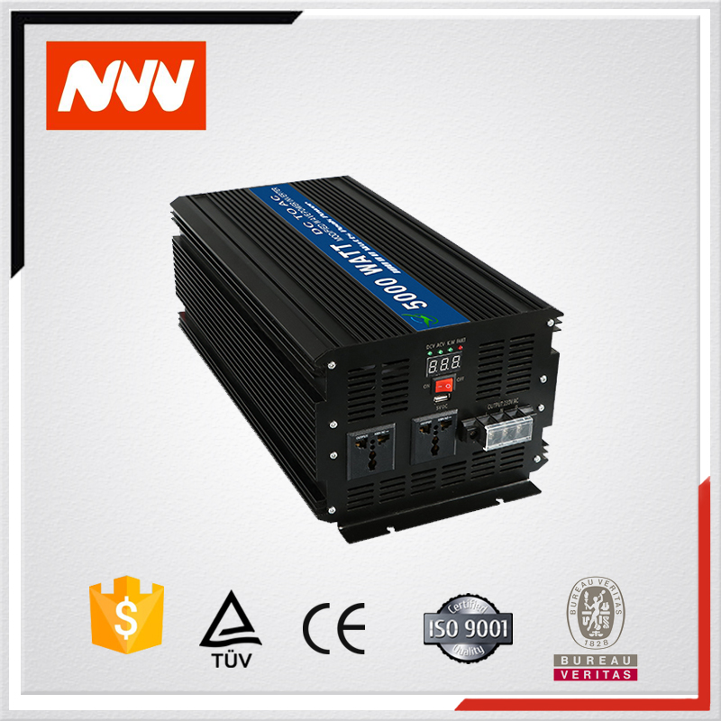Black Off Grid Modified Sine Wave 12v 220v <strong>dc</strong> to ac 5000w Power Inverter