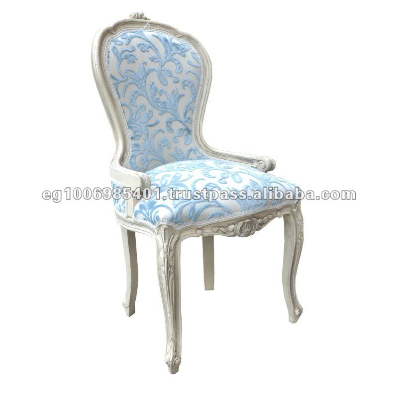 antique french white chair