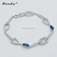 Top Quality AAA Zircon Jewelry Women Gift Bracelet Wholesale Charm Bracelet