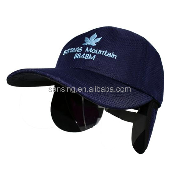 fashion winter warm outdoor baseball cap with ear flaps
