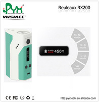 Newest arrival!!! Large power Wismec authentic WISMEC Reuleaux RX200 TC Mod mechanical ecig mod side button ecig mod