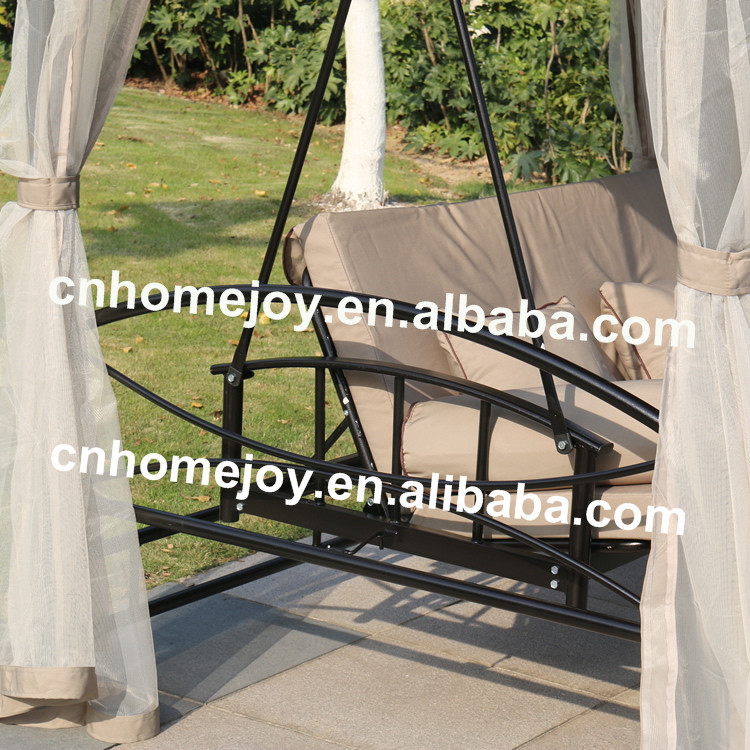 Luxury 3 Seater Swing Gazebo With Bed Net