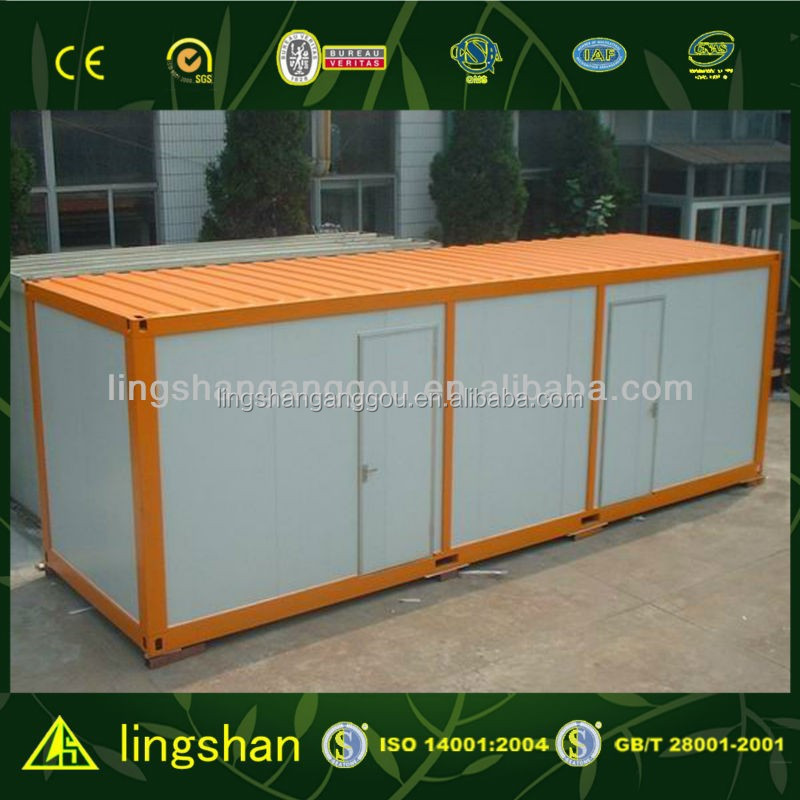 cheap flat pack container house building with ISO 9001:2008
