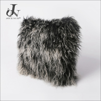 Hot Sale China Supplier Wholesale Tibetan Mongolian Lamb Fur Curly Cushion Cover