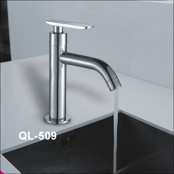 The new stainless steel single cold faucet basin faucet