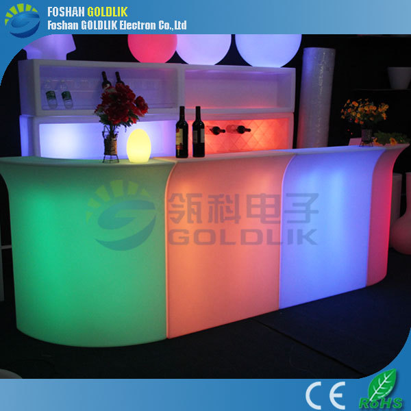 Hot sale remote control led outdoor furniture illuminated led <strong>bar</strong> counters