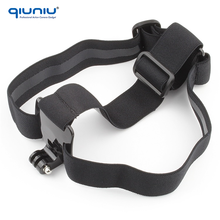 QIUNIU Wholesale Elastic Adjustable Head Strap Belt Mount for Go Pro Hero 4 3 Xiaomi Yi Action Camera Accessory
