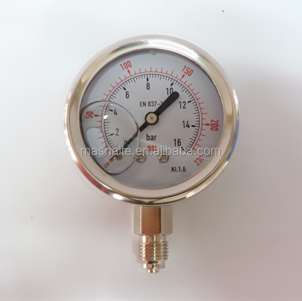 Naite all stainless steel murphy oil filled digital screw gauge for measuring pressure