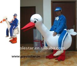 2012 artificial leg of duck mascot costume for party NO.1686