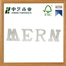 Eco- friendly OEM&ODM cheap wooden crafts finished cheap wooden words for gift