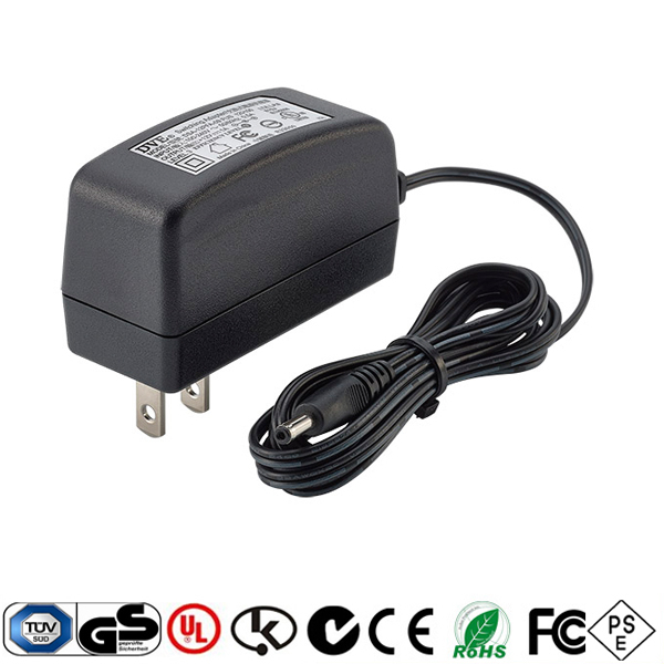 wifi model AC DC adapter for router ac dc12V 1A and 5V 2A with UL CE UK PSE approvals