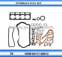 Engine overhaul gasket for 7K engine OEM :04111-42031