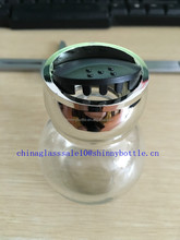 spherical shape 80ml glass spice dispenser 16pcs one set