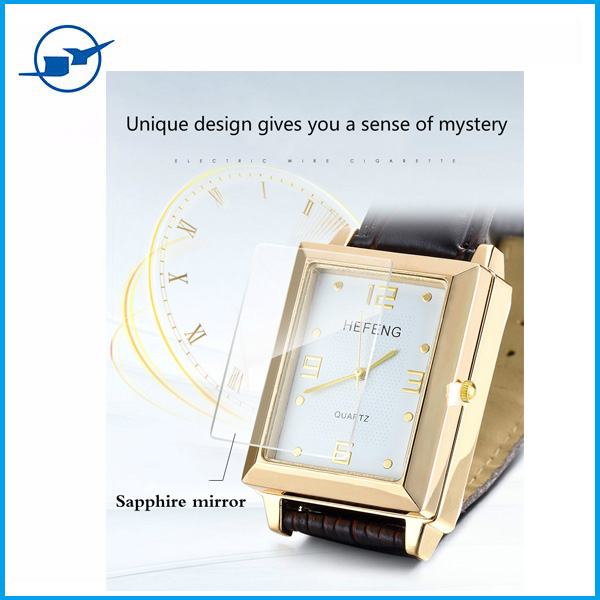 2016 Newest Quartz Watch & USB Charging Electronic Flameless Windproof Cigarette Lighter with LED light and Leather Watchband