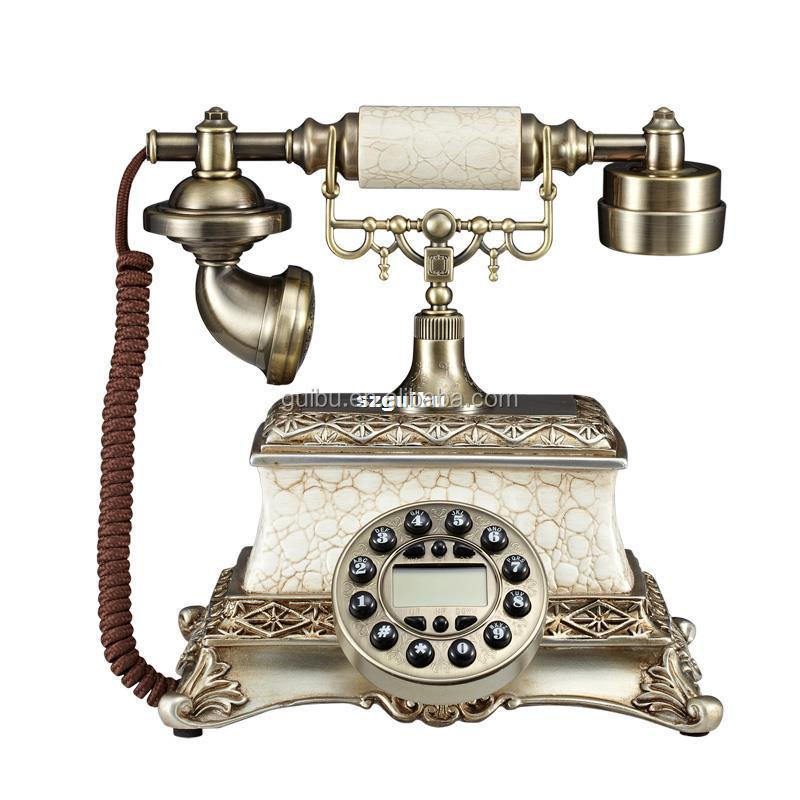European fashion creative story Square antique retro landline telephone
