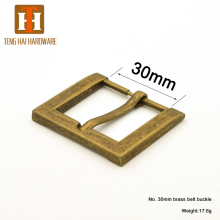 30mm custom color brass metal single pin buckles for coat