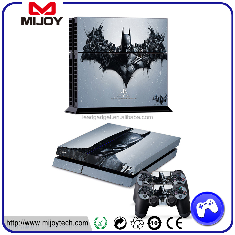 High quality vinyl skin sticker for ps 4 playstation console and controller,skin sticker for ps 4