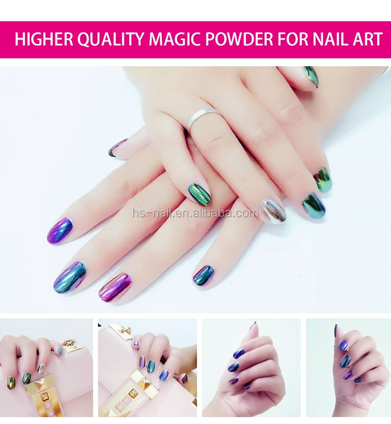 nail mirror powder new magic metallic nail pigment powder mirror effect