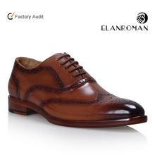 Lace up classic men brogues dress shoes genuine leather wholesale dress shoes with blake handmade