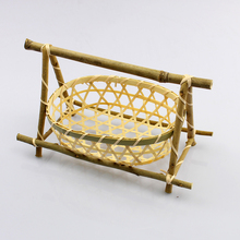 decorative vegetable small bamboo baskets hanging storage baskets