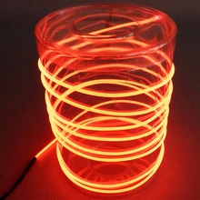 3m high quality LED Flexible Round Neon Light Glow EL Wire