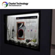 2014 new advertisement,ChariotTech best electronic christmas gifts transparent lcd clock , give you best Experience