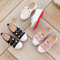 QX675 Hot style children's shoes fall 2017 new Korea pearl sandals the girls boy antiskid leisure shoe