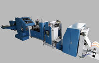 ZD-F290 Updated High Efficient Supermarket Roll Fed Square-Bottom Small Gift Kraft Paper Bag Making Machinery for Sale