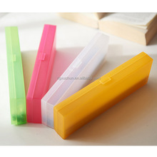 Candy color PE stationery box korean style pencil case multi-functional students pencil box in Dongguan