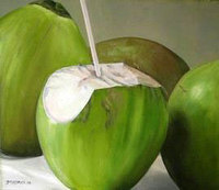 Fresh Young Green Coconut