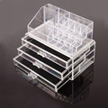 2016 Clear Makeup case with 3 Drawers Made in China