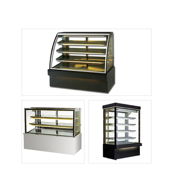 3 layers cake bakery display refrigerated case showcase confectionery cabinets