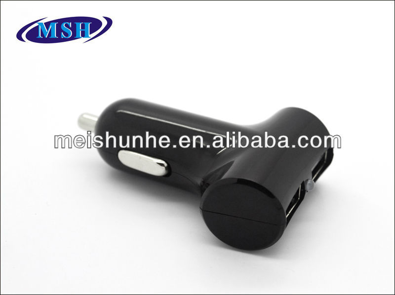 Portable 5V 2.1A Dual USB Car Charger for iPhone/iPad/iPhone 5
