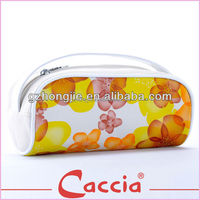 2015 pvc printed custom travel makeup bag for lady