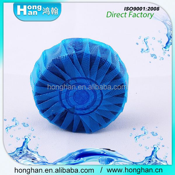 Unique Natural Products Lasting fresh Safe Solid block harpic blue-bubble toilet bowl cleaner air freshener wholesale