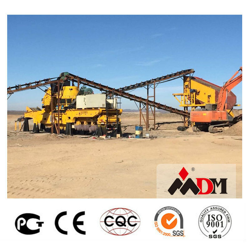 China Top 1 mobile crusher run machine price in sabah certified by CE ISO GOST